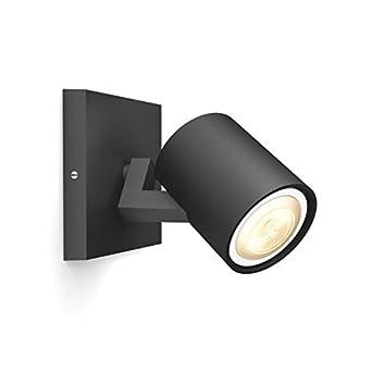 Faretto Led Spot.Philips Lighting Extension Runner Single Spotlight Ext Hue White Ambiance Faretto Led Spot Gu10 5 5 W Nero 11 X 9 X 10 9 Cm