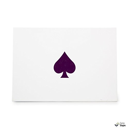 Ace Of Spades Card Spade Poker Game, Rubber Stamp Shape great for Scrapbooking, Crafts, Card Making, Ink Stamping Crafts, Item 318997