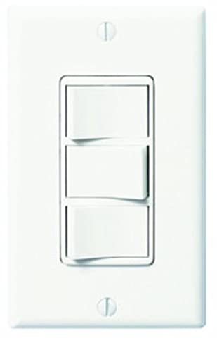 Panasonic FV-WCSW31-W WhisperControl Three-Function On/Off Switch, White (3 Function Light Switch)