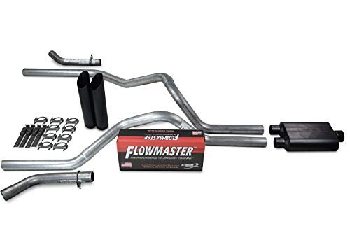 Truck Exhaust Kits - Shop Line dual exhaust system 2.5 AL pipe Flowmaster Super 44 2.5