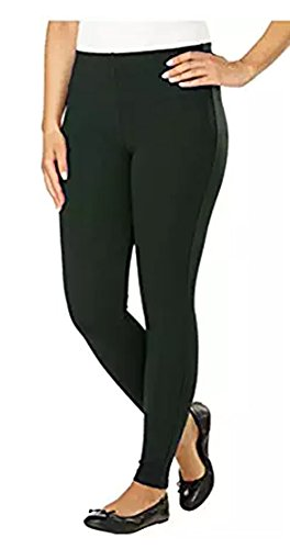 Ladies' Pull-On Style Legging, Stretch Fabrication, Elastic Waistband (Medium, olive)