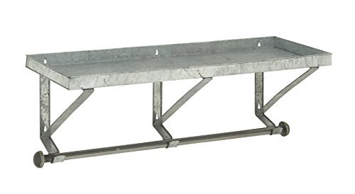Deco 79 Robust Metal Wall Shelf with Rod