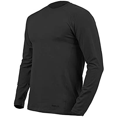 281Z Mens Military Stretch Cotton Long Sleeve T-Shirt - Tactical Hiking Outdoor Undershirt - Punisher Combat Line: Clothing