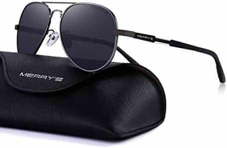 93ee2101b3 MERRY S Men HD Polarized Sunglasses Aluminum Magnesium Driving Sun Glasses  S8285