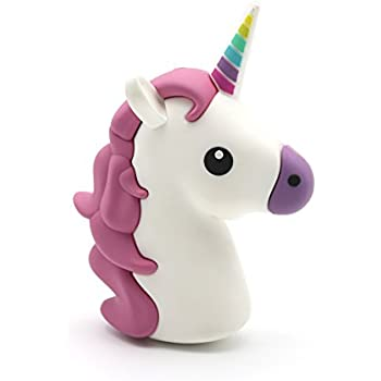 dbigness 2600mah unicorn cute funny gift cartoon pvc external battery portable charger backup pack power bank for iphone 7 7 plus 6 6s plus 5s 5c se 4s and