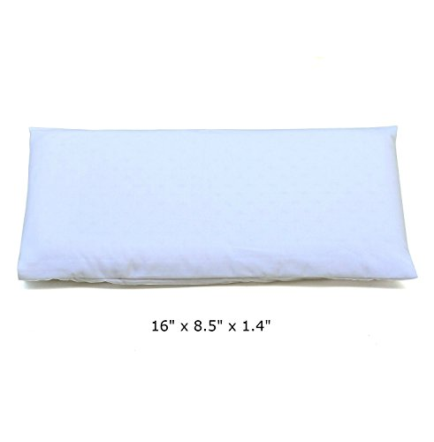 2cloud9 Baby Pillow Made of 100% Latex Rubber Foam. Comes with Two 100% Cotton Covers (White) (Pillow Natural Rubber)