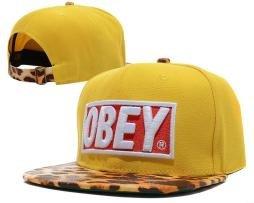 Obey Yellow Leopard Snapback - Obey