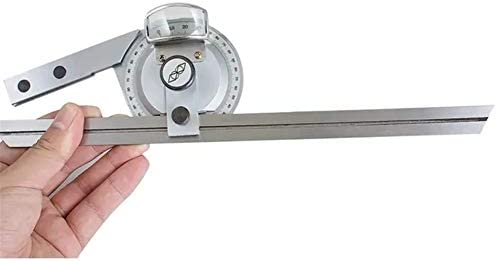 Ruler Measuring Tool Universal Bevel Protractor Angle Finder Angular Dial Ruler Goniometer with 300mm Blade 0-360° Stainless Steel