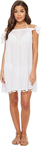 (Bleu Rod Beattie Women's Off The Shoulder Dress Swim Cover Up, Gypset White, L )