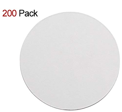 Custom Paper Coasters (TravelWell Round 3.54 Inch Diameter Thicker (0.8 MM) Non Slip Drink White Paper Coaster Set - Set of)