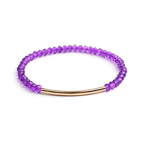20 Colors Faceted Crystal Gem Stone Beads Bracelet for Women Jewelry Stretchy Cristal Bracelet Femme Bijoux Jewelry 8 1 Pcs