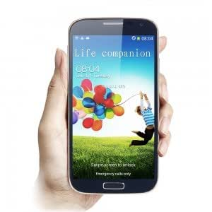 """POMP W88A MTK6589 Quad-core Android 4.2 Smart Bar Phone with 5.0"""" Capacitive Screen Black (EU Standard Charger)"""