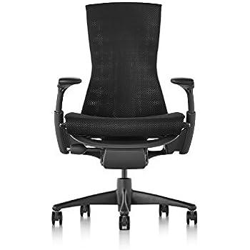 Herman Miller Embody Chair - Graphite Frame/Black Balance Textile