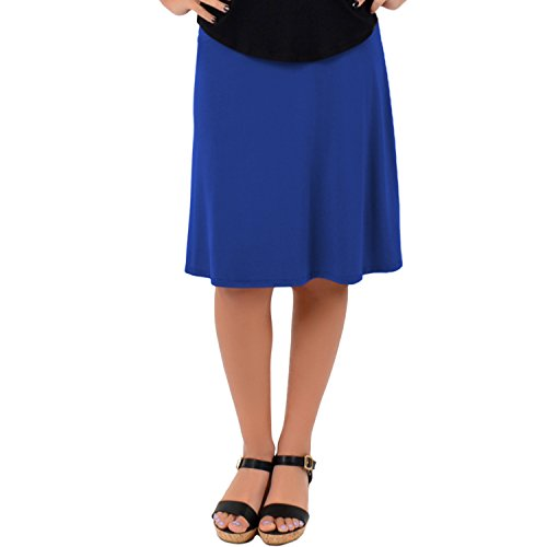 (Stretch is Comfort Women's A-Line Skirt Royal Blue 2X)