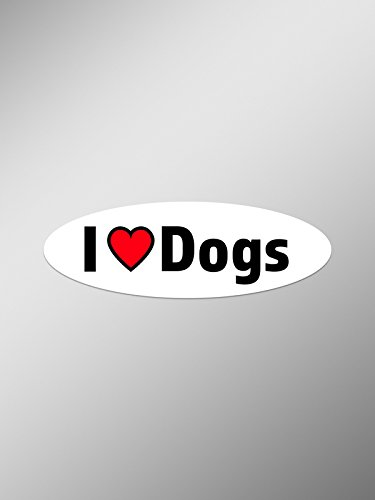 PD073 2-Pack I Love Dogs Decal Sticker | 5.5-Inches for sale  Delivered anywhere in USA