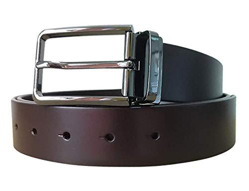 Men's 100% Cow Genuine Leather Belt (brown, 120cm(waistline:less than 41