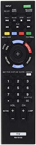 Sony Remote Control RM-YD103 149276711 for KDL-60W630B KDL60W630B KDL-40W590B KDL40W590B KDL-40W600B KDL40W600B KDL-48W600B KDL-60W610B Led Tv (Renewed) (Model Kdl48w600b)