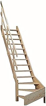 Gran ahorro de espacio escaleras con giro a la derecha para suelo para subir de un piso alturas de hasta 3.53 M: Amazon.es: Bricolaje y herramientas
