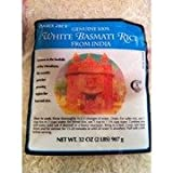 Trader Joe's Genuine 100% White Basmati Rice from India, 2 lbs - 2 pack
