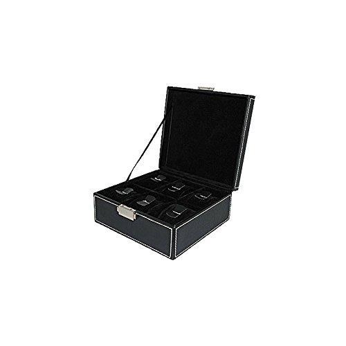 Uhrenbox Uhrenschatulle - Aufbewahrung für 6 Uhren