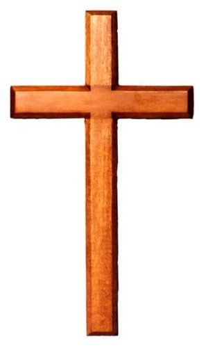 30cm wooden Mahogany very large wall hanging cross brown wood