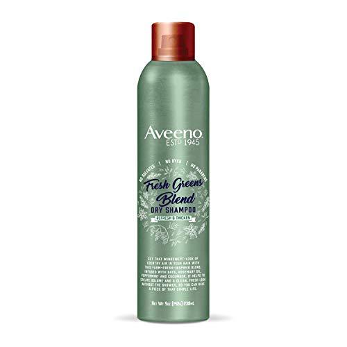 Aveeno Fresh Greens Blend Volumizing Dry Shampoo for Thickness and Refresh, Sulfate Free Shampoo, No Dyes or Parabens, 5 oz (Best Volumizing Dry Shampoo)