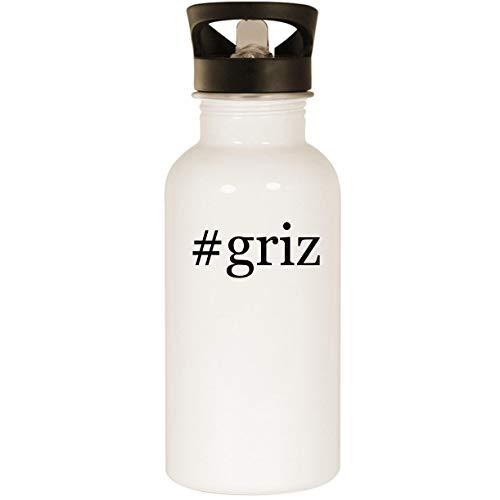 Rebel Flag Hat Pin - #griz - Stainless Steel 20oz Road Ready Water Bottle, White
