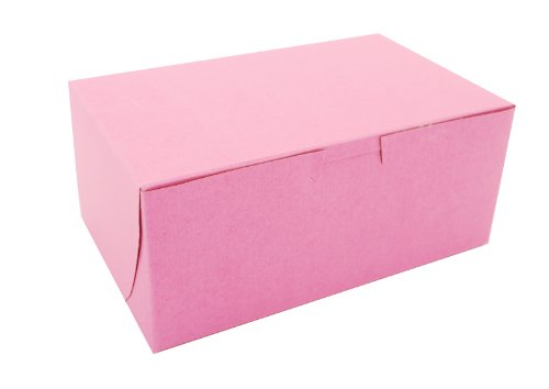 Southern Champion Tray 0826 Pink Paperboard Non-Window Lock-Corner Bakery Box, 8