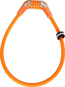 - Kryptonite Kryptoflex 1265 Combo Cable Bicycle Lock (12mm x 65cm, Orange)