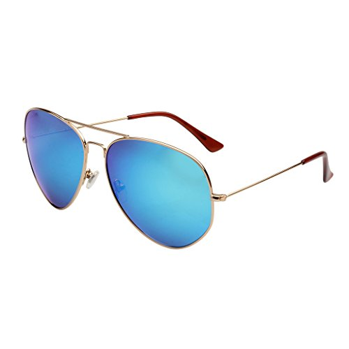 LianSan Sunglasses Polarized for Men Aviator Metal Driving Fishing Glasses LSP025 (blue, - On Perfectly Round Sunglasses Clip
