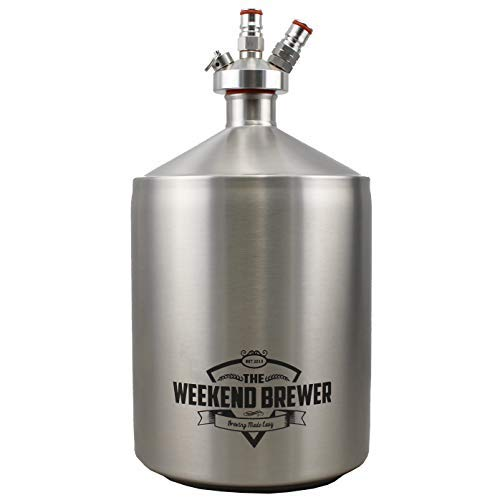 - The Weekend Brewer 5L Mini Keg with Ball Lock Tapping System Stainless Steel