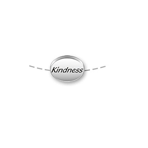 Sterling Silver Double Sided 11mm x 8mm Message Bead - Kindness ()