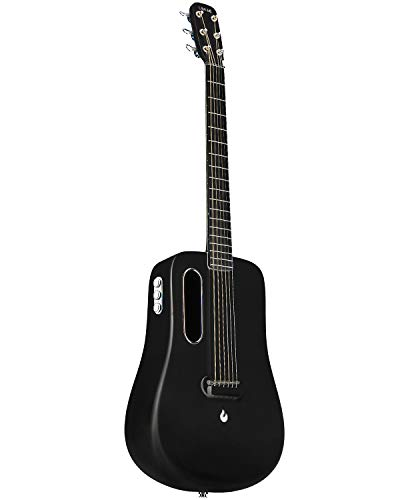 LAVA ME 2 36 inch Carbon Fiber Guitar with effects Acoustic Electric Guitar with Picks Hard Case (Freeboost-Black)