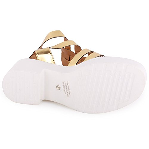 Dolcis Amsterdam Womens Synthetic Sandals Gold - 38 EU