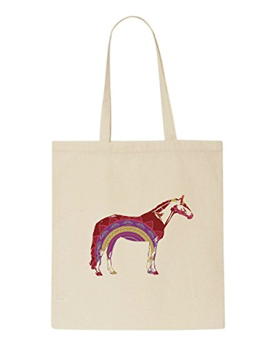 Bag Style Boho Silhouette Shopper Beige Tote Horse Animal HxxqwP