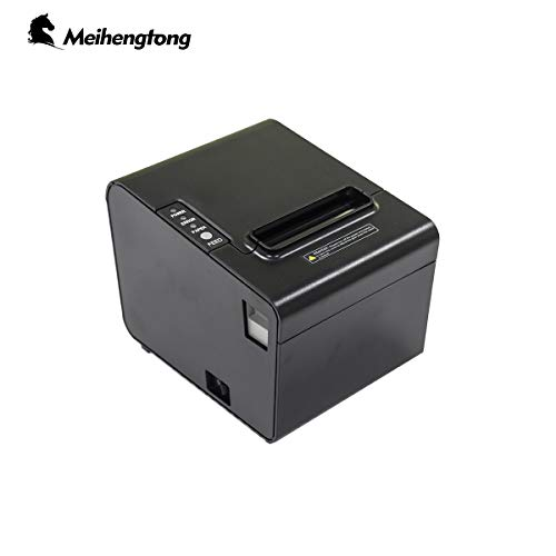 Meihengtong Receipt Printer USB 3 1/8″ High Speed 80mm Direct Thermal Printer, Pos Printer with Auto-Cutter ESC/POS Print Commands Support Windows XP/7/8/10