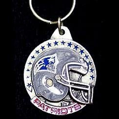 NFL New England Patriots Carved Key Chain, Metal, One Size ()