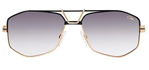 Cazal 9073 Sunglasses 002SG Black Gold / Grey Gradient Lens 61 - Aviators Cazal
