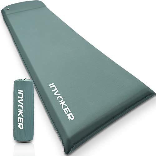 Zelfopblazende Memory Foam Camping Slaapmat – Pad met ingebouwd kussen, 3 inch UltraDikke Luchtmatras Opblaasbaar…
