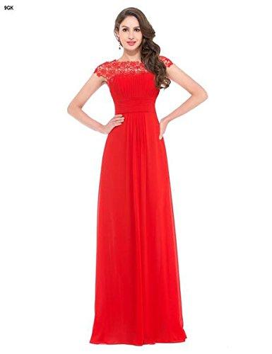 Quissmoda vestido fiesta largo boda, color rojo,verde,negro,azulon, talla