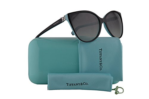 - Tiffany & Co. TF4089B Sunglasses Black Blue w/Grey Gradient Lens 58mm 80553C TF4089-B Tiffany&Co. TF 4089B TF 4089-B