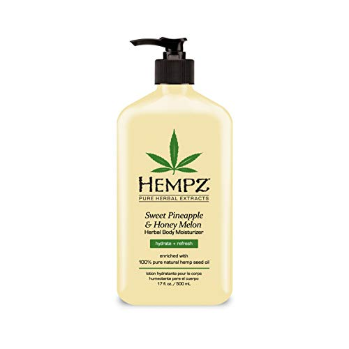 Hempz Sweet Pineapple & Honey Melon Moisturizing Skin Lotion, Natural Hemp Seed Herbal Body Moisturizer with Jojoba…