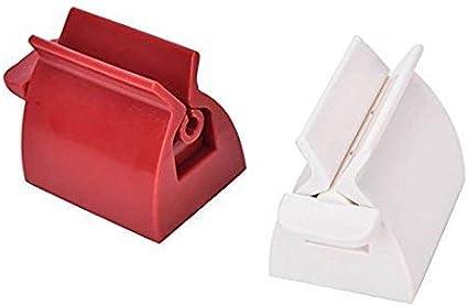 Soporte exprimidor para pasta dent/ífrica Accesorio para el ba/ño 2 unidades