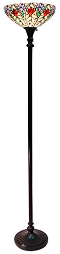 (Fine Art Lighting Tiffany Torchiere Lamp, 14 by 72-Inch, 450 Glass Cuts)