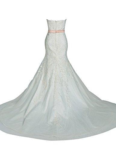 Sarahbridal Damen Kleid Elfenbein Elfenbein WolQx - yuan.ffw ...