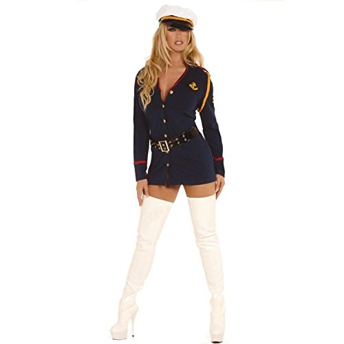 Elegant Moments Women's Plus-Size Gentleman's Officer-Plus, Navy, 3X/4X