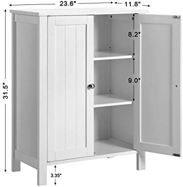 home, kitchen, furniture, bathroom furniture,  bathroom sets 6 discount VASAGLE Bathroom Floor Storage Cabinet with Double Door promotion