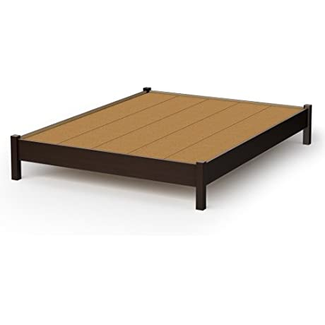 South Shore Sandbox Collection 60 Inch Queen Platform Bed Chocolate