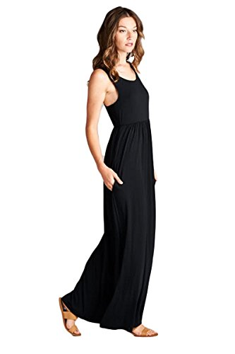 47b87e0aec Vanilla Bay Solid Racerback Pocket Maxi Dress