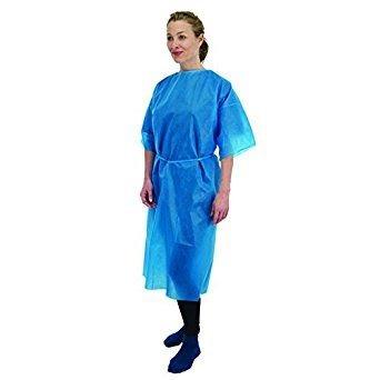 Premier 5521 - Plumón de manga corta desechable, color azul, 10 unidades: Amazon.es: Salud y cuidado personal